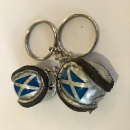 Scotland Flag Shinty Ball Keyring