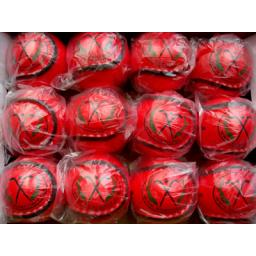 Pack of Red Shinty Balls