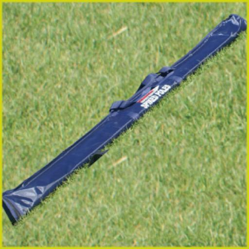Spring loaded slalom pole bag