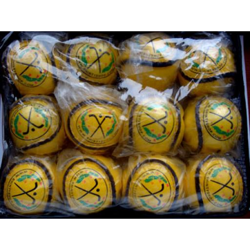 Pack of Yellow Shinty Balls